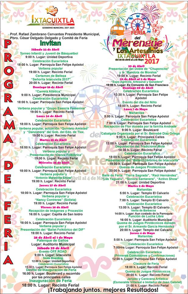Feria del Merengue y Artesanías Ixtacuixtla 2017